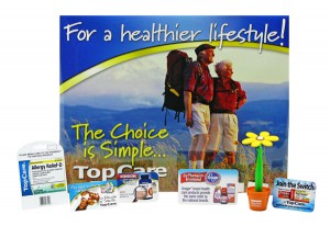 Product Launch support material, point of purchase displays, product promotions